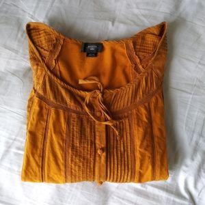 Anthropologie Deletta Pintuck Striped Blouse